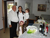 Pesach : erev Pesach at Moshav Brosh  (Passover 2009)  at the table of Racheli's parents. The Grandparents of Naomi and david-Aaron. After Yom Tov, to Netivot to visit Racheli's Rav and then with Naomi to parl Afek.